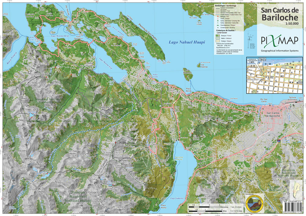 Bariloche Trekking Maps, Nahuel Huapi National Park on mu map, ca map, mco map, northern europe map, central europe map, western europe map, osi map,